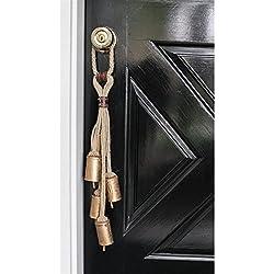 Natural Lodge Jute Rope Door Hanger with 5 Bells - 23-in