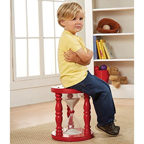 ART & ARTIFACT Red Wooden Time Out Stool