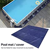 Square Swimming Pool Cover,Pool Ground Cloth Protective Cover Pool Floor Mat Square Pool Gasket