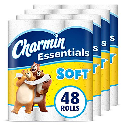 Charmin Essentials Soft Toilet Paper, 2-Ply, 48 Giant Rolls (Equal to 108 Regular Rolls)