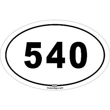 Amazoncom Area Code Bumper Sticker For Car Automotive - 540 area code
