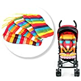 Qianle Baby Stroller Rainbow Patten Waterproof Cushion Pram Padding Liner/Car Seat Pad