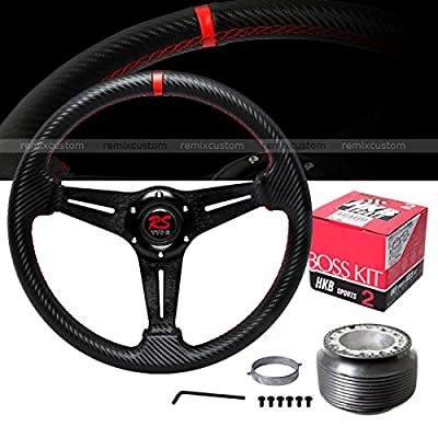 steering wheels \u0026 accessories1989 1998 nissan 240sx s13 s14 carbon style pvc leather red stitches drift steering wheel