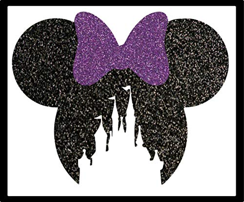 Disney Minnie Head and Bow Castle Cut Out Iron-On Transfer Image Graphics for T-Shirts, Pillowcases, Bags, Party Favors, DIY Projects