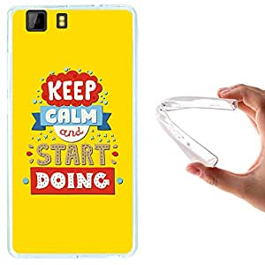 WoowCase - Funda Gel Flexible { Doogee X5 - X5 Pro } Keep Calm and Start Doing Carcasa Case Silicona TPU Suave