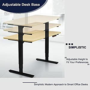 CO Z Electirc Adjustable Height Stanidng Desk Frame With Memory Control  Ergonomic Sit Stand Computer Office Desk (Black)