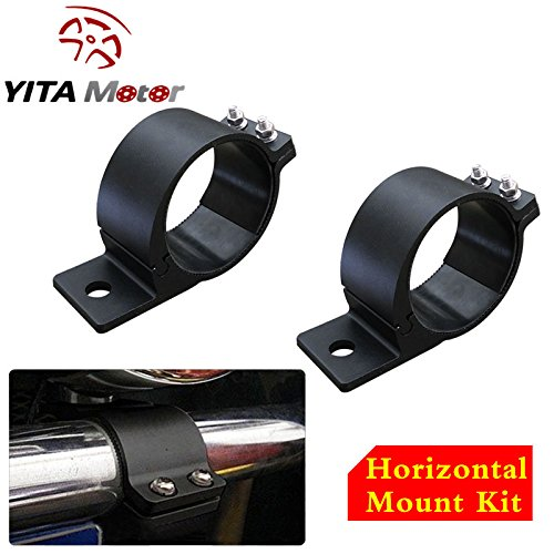 YITAMOTOR 2PCS Offroad Horizontal Light Bars Clamp Mounting Kit Roof Roll Cage Holder For LED Work Lights Kit Mount on 3