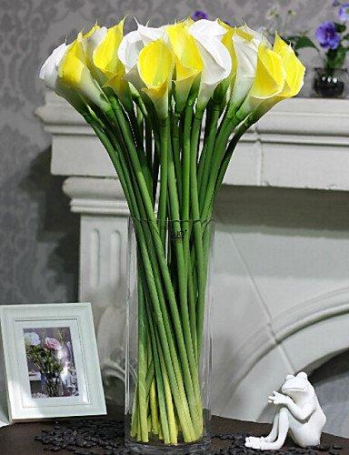 RZAOHuaj,Artificial flowers, decorative bouquet, The Silicone Callas Plastic / Silica Gel Calla Lily Artificial Flowers , white