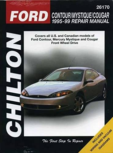 ford contour mystique and cougar 1995 99 chilton total car care rh amazon com 1999 mercury cougar repair manual + pdf 1999 mercury cougar repair shop manual pdf free