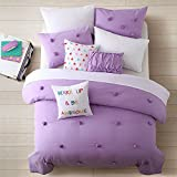Cassiel Home Anna 3pcs Comforter set Purple Teen Girls Bedding (Queen, Purple)