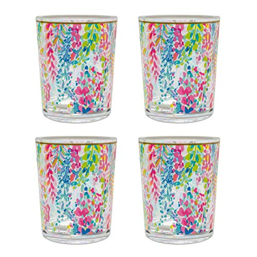 Lilly Pulitzer Lo Ball Glass - Catch The Wave