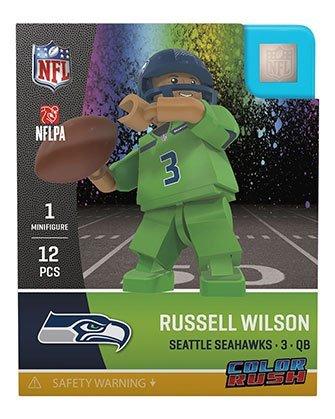 Oyo Sportstoys NFL Seattle Seahawks Sports Fan Bobble Head Toy Figures, Navy Blue Grey/Green, One Size