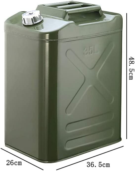 Military Green 20L-60L Large-Capacity Gasoline Tank Thickened Explosion-Proof Jerry Can Automobile and Motorcycle Spare Metal Gasoline Barrel//Fuel Tank