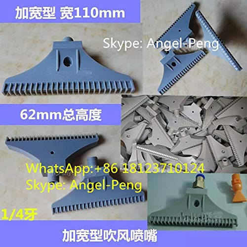 1//4/'/' BSPT Thread ABS Flat Wind Jet Air Blowing Nozzle Cooling Washing Blue