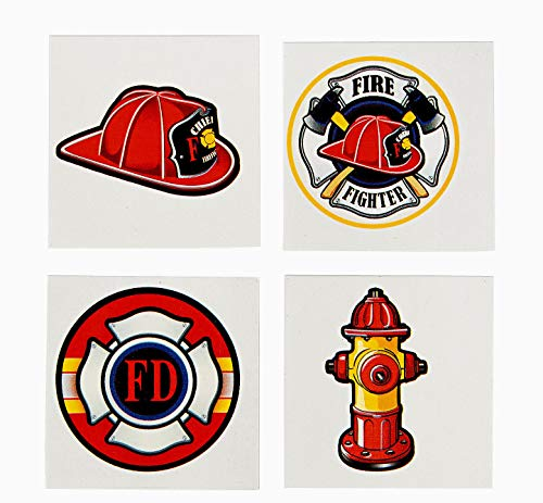 tkpartysupplies4u 72 Fireman Tattoos Kid's Firefighter Party Favors Temporary ()