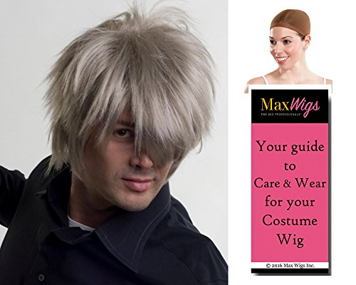 Famous Characters With Beards (Hoshi Socihiro Ryu Actor Color Wine - Enigma Wigs Men's Anime Star Japanese Street Fighter Bundle with Wig Cap, MaxWigs Costume Wig Care Guide)