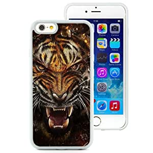 Beautiful Unique Designed iPhone 6 4.7 Inch TPU Phone Case With Tiger Fangs_White Phone Case