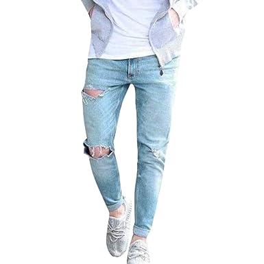 Heetey Pantalones Chinos para Hombre, algodón Vaquero, con ...