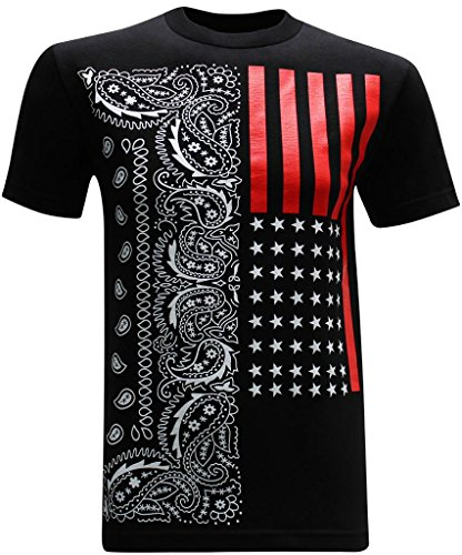 California Republic Red Flag Men's T-Shirt - (XXX-Large) - Black