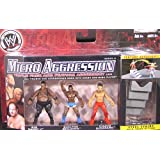 """CHAVO GUERRERO, BIG DADDY V & SHELTON BENJAMIN - MICRO AGGRESSION 11 WWE TOY WRESTLING ACTION FIGURES (2"""" TALL)"""