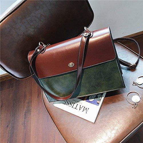 GUANGMING77 Schulter Messenger Bag_Farbe Einfache Schulter Messenger Bag All-Match Atmosphärischen Todd green