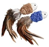 KONG Naturals Crinkle Fish Catnip Toy, Colors Vary, 2-Pack, My Pet Supplies