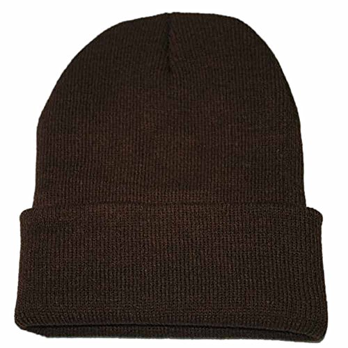 iYBUIA Unisex Slouchy Knitting Beanie Hip Hop Cap Warm Winter Ski Hat(Coffee,One Size) -