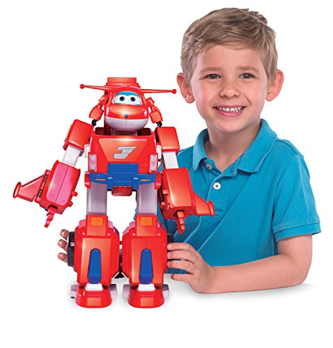 Super Wings - Jett's Super Robot Suit Large Transforming Toy Vehicle | Includes Jett | 5'' Scale by Super Wings - (Image #4)