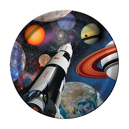 Creative Converting Space Blast Sturdy Style Paper Dinner Plates (8 Count), (Blast From The Past Costumes)