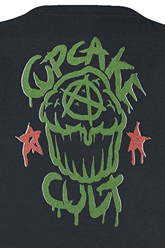 Cupcake Cult Quest Camiseta Mujer Negro S