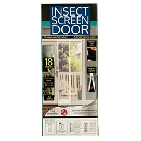 Kole Magnetic Screen Door - Fits Single & Sliding Doors, 18 Magnets Create A Hands-Free Automatic Closing System Easy Installation & Pet Friendly, 80