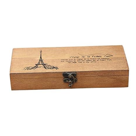 Caja de Slmacenamiento, Retro joyería caja de almacenamiento de la Torre Eiffel organizador titular de