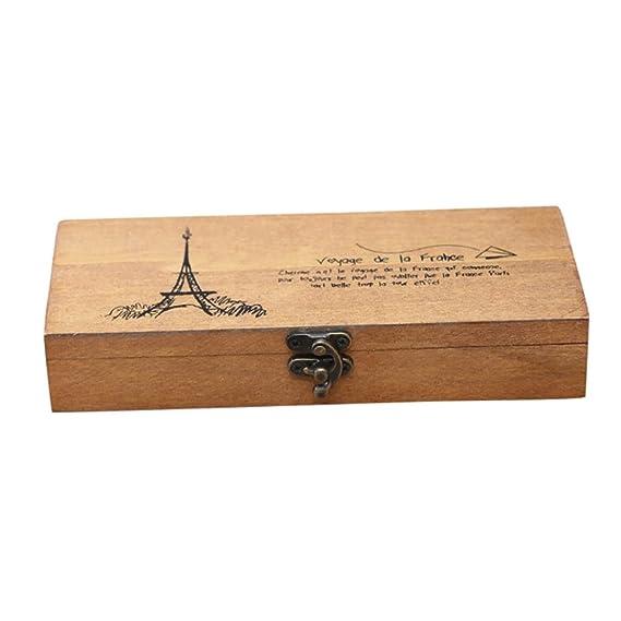 Caja de Slmacenamiento, Retro joyería caja de almacenamiento de la Torre Eiffel organizador titular de la moneda estuche de papelería LMMVP: Amazon.es: ...