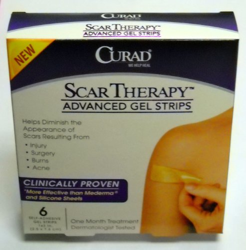 Curad Scar Therapy Advanced Gel Strips 6 Each (Therapy Advanced Gel)
