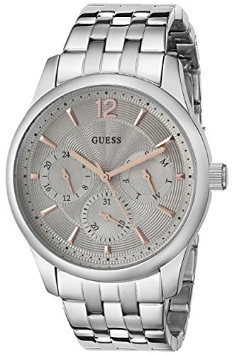 GUESS-Mens-U0474G2-Handsome-Silver-Tone-Multi-Function-Watch