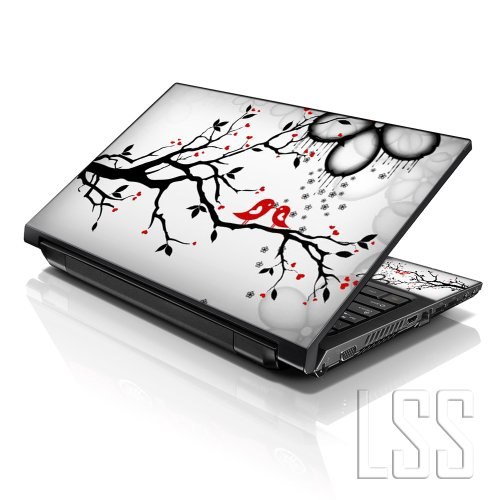"Price comparison product image LSS 15 15.6 inch Laptop Notebook Skin Sticker Cover Art Decal Fits 13.3"" 14"" 15.6"" 16"" HP Dell Lenovo Apple Asus Acer Compaq (Free 2 Wrist Pad Included) Lovebirds Eye Catching"