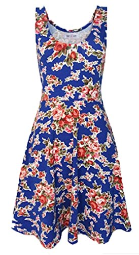 Cocktail Jaycargogo Vintage Women's 1950's 6 Party Picnic Party Dress Floral R0aacFAW