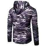 iYYVV Mens Long Sleeve Camouflage Hoodie Hooded