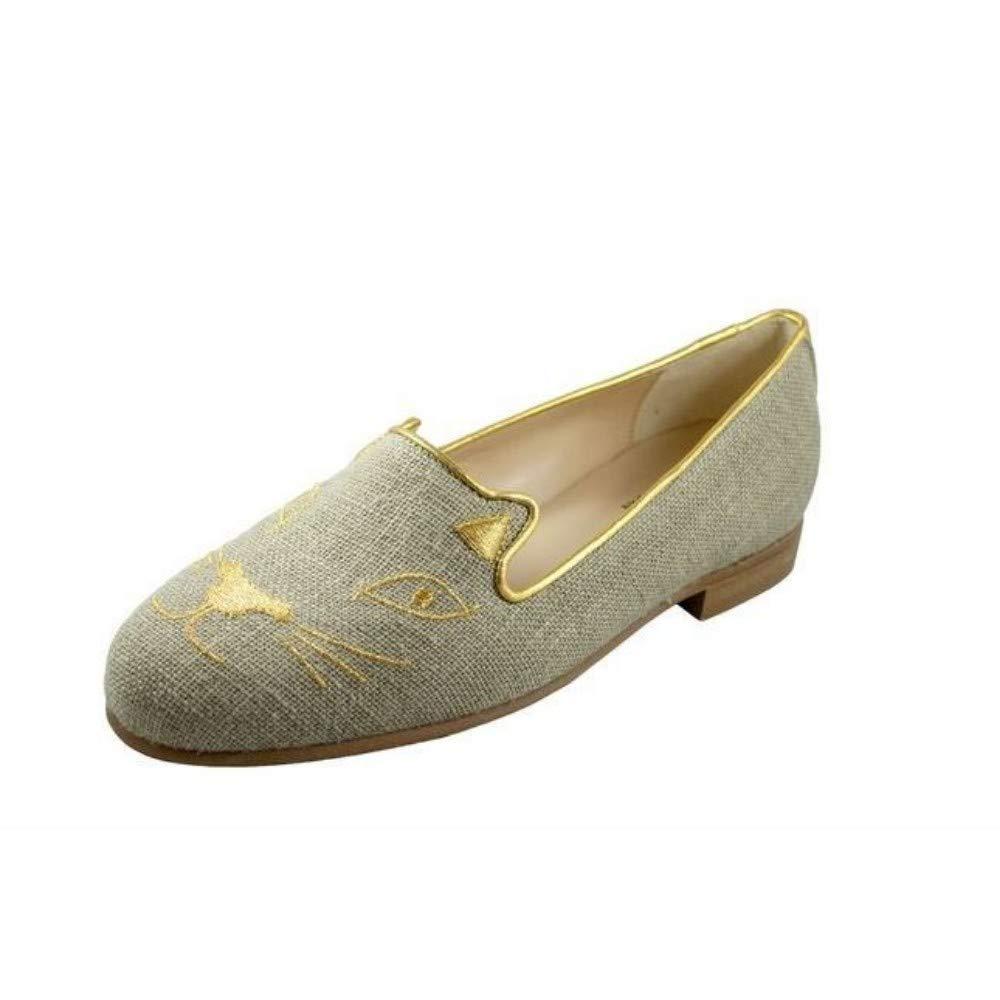 Jon Josef G Cat Sacco Linen Loafer Flat 10 M