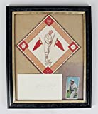 Ny Giants Larry Doyle Signed Autograph 3X5 Cut T206 1914 B18 Blanket Display JSA Certified