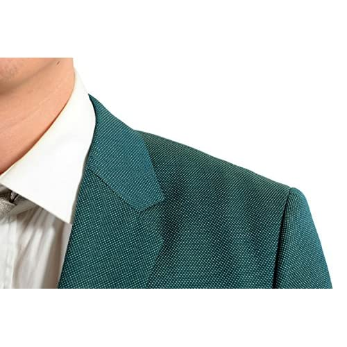 340ac9a47 Hugo Boss Astian/Hets Men's 100% Wool Green Two Button Suit SZ US 40R