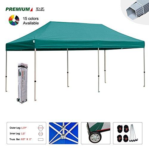 New Eurmax 10x20 Ft Premium Ez Pop up Instant Canopy Wedding Party Tent Gazebo Shade Shelter Commercial grade Bonus Wheeled bag (New Gazebo)