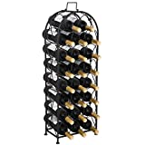 lunanice Metal Wine Rack Arched Wine Holder for 23 Bottles Storage Freestanding, 33''