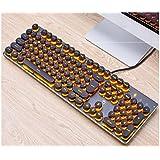 Desktop Tastiera rotonda ABS Caps Retroilluminazione per tastiera meccanica ad asse trasversale (Orang) per i dattilografi dei giocatori