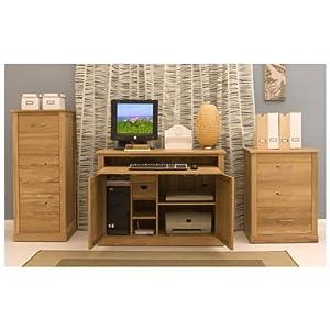 Conran solid oak furniture hidden home office computer desk