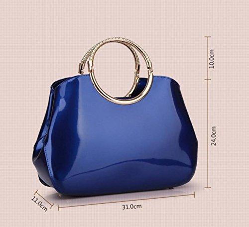 Styling Lo Sposa Per Brillante Borsa Alla Moda Winered In Vernice Chengxiaoxuan Borse Donna Da wq17SS
