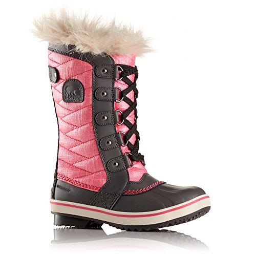 Sorel Girls Stivali Invernali Impermeabili Tofino Ii, Nero / Rosa Cava Tropic