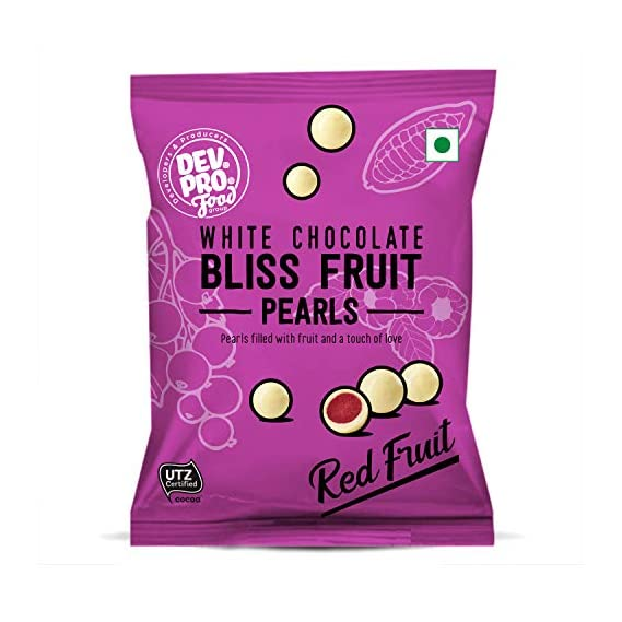 DEV. PRO. Bliss Fruit Pearls White Chocolate RED Fruit 40 G