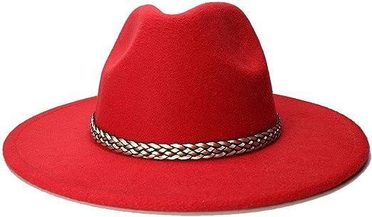 HAOHAO Moda ala Ancha Otoño Moda para Mujer Sombrero de Copa Gorra ...