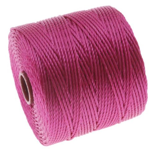 BeadSmith Super Lon Cord Twisted Magenta